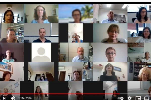 תרגול מדיטציה בארגון - אונליין- מכבי- תמונה לניוזלטר